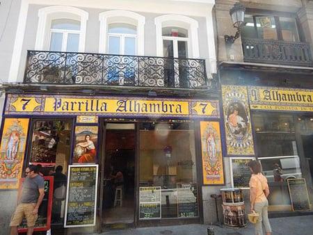 Испания, Мадрид: рестораны второй категории