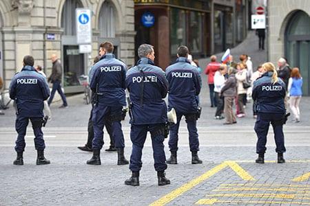 Швейцария, Цюрих: меры безопасности