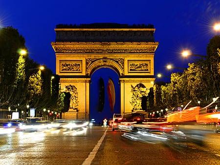 Триумфальная арка и площадь Этуаль