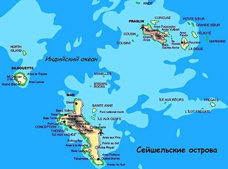 Сейшелы: острова Ла-Диг, Праслен, Силуэт