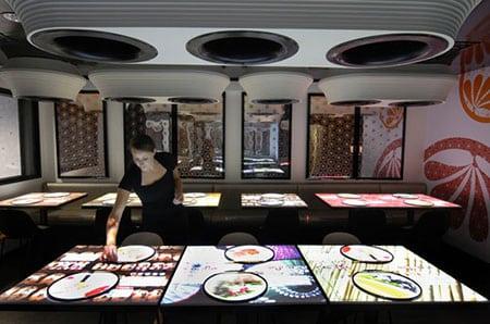 Сенсорный дисплей в меню ресторанов